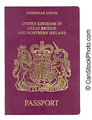 UK passport - Passport from United Kingdom with clipping...