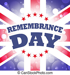 uk remembrance day with abstract flag background