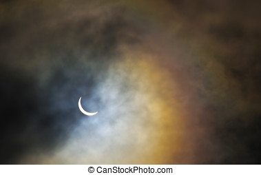 Solar Eclipse - UK, Scotland, Lothian, Edinburgh, Holyrood...