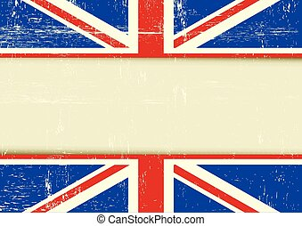 UK scratched horizontal background