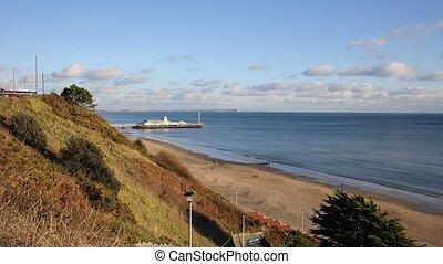 UK south coast Bournemouth Dorset - Bournemouth beach pier...