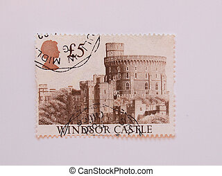 UK stamp with Windsor castle