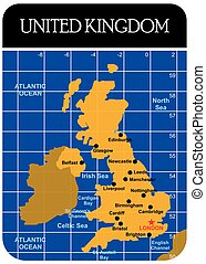 UK United Kingdom Political Map