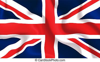 UK waving flag - Satin UK waving flag, eps10 vector...