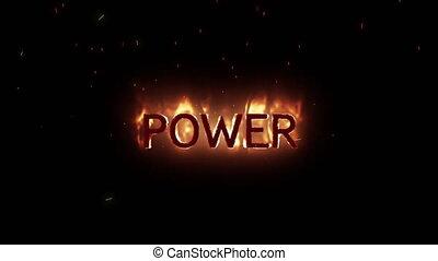 ukazujący, tekst, moc, ogień