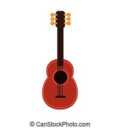 ukelele guitar music hawaiian vector illustration eps 10
