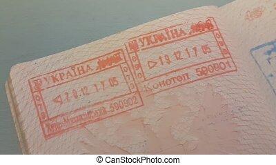 Ukrain Visa Stamps In Russian Passport