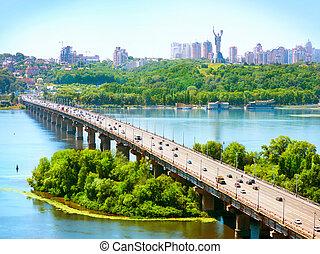 ukraina, stad, -, kiev, huvudstad