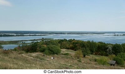 Ukraine, a fascinating view from the hill on the Dnipro river