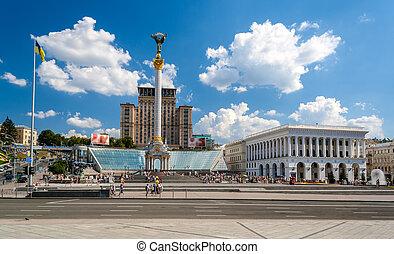 ukraine, carrée, indépendance, kyiv