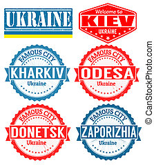 Ukraine cities stamps