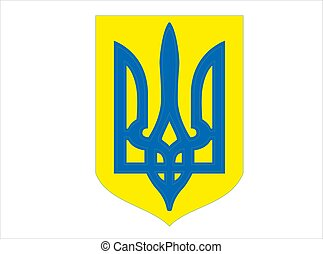 Ukraine coat of arms national emblem vector illustration eps10