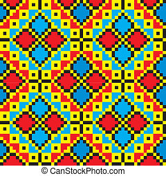 Ukraine ethnic pattern. - Seamless embroidered good like...