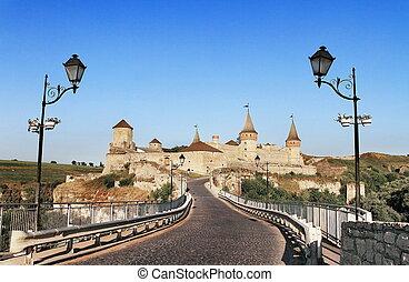 ukraine, fæstning, kamyanets, podilskiy