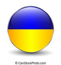 Ukraine flag button