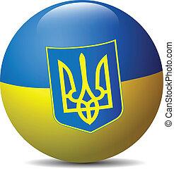 Ukraine flag globe