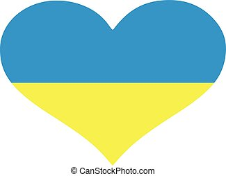 Ukraine flag heart