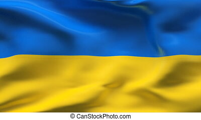Ukraine flag - HIGHLY DETAILED FLAG WITH WRINKLES AND SEAMS