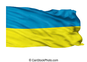 Ukraine Flag. - Ukraine flag flying high in the sky.