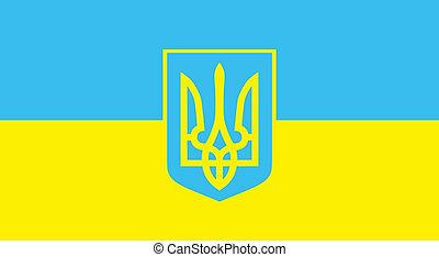 ukraine, flag., vecteur