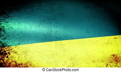 Ukraine Flag Waving, grunge look