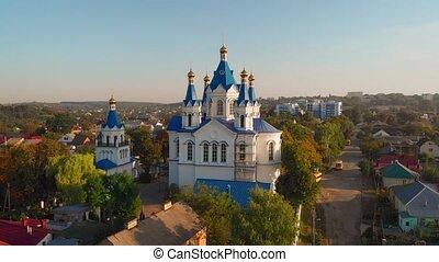 ukraine, george, podilskyi, bourdon, saint, kamianets, église, perspective