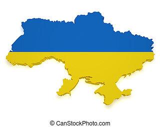 Ukraine Map 3d Shape