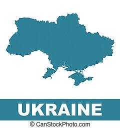 Ukraine map on white background. Flat vector