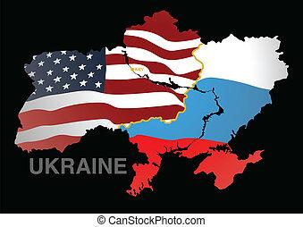 Ukraine map US V RUS.