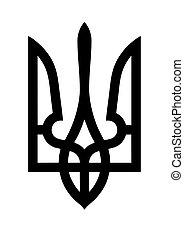 Ukraine national emblem black...