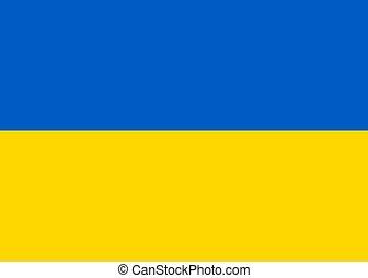 Ukraine national flag. vector illustration. business education