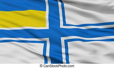 Ukraine Naval Ensign Flag Closeup Seamless Loop - Naval...
