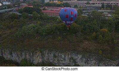 Ukraine October 3, 2020, Kamyanets Podolsk Balloon Festival, morning launch.