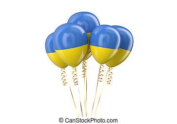 Ukraine patriotic balloons,  holyday concept