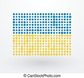 ukraine, petit, drapeau, réconcilié