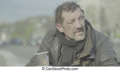 ukraine., poverty., homme, tramp., kyiv., sdf, vagrancy., ...