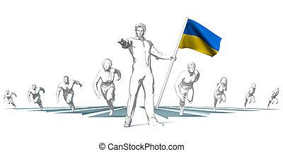 ukraine, rennsport, zu, zukunft