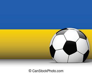 Ukraine Soccer Ball with Flag Background