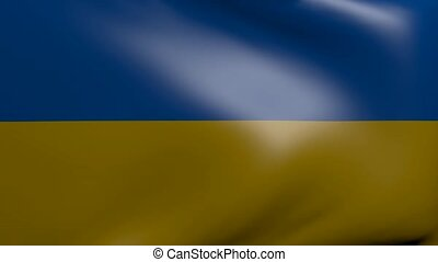ukraine strong wind flag