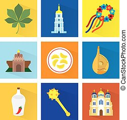 Ukraine Vector Icons Set 4