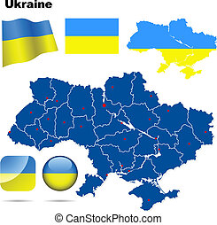 Ukraine vector set.