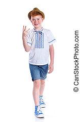 Ukrainian boy in hat