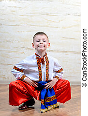 Ukrainian child performing a traditional dance