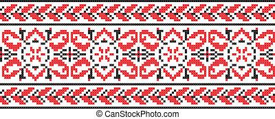 Ukrainian cross-stitch ornament - Vector