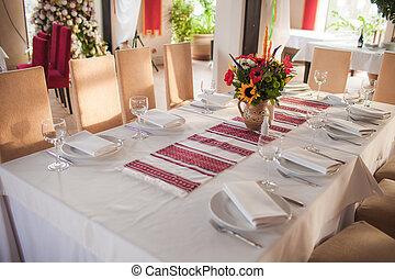 Ukrainian decorated table
