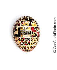 Ukrainian Easter egg on a white background