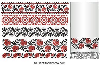 ukrainian embroider towel