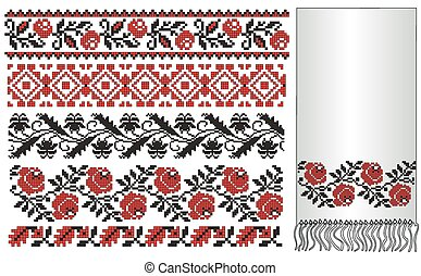 ukrainian embroider towel