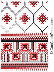 Ukrainian embroidery ornament