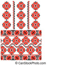 Ukrainian embroidery ornament
